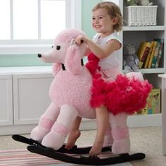 pink poodle rocker-a perfect room addition for any little girl!