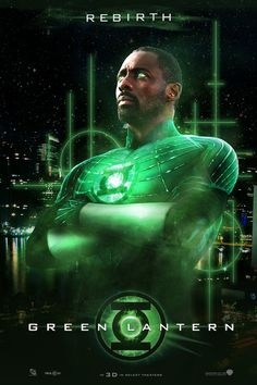 Fan made poster of Idris Elba as The Green Lantern!!!! LOVES THIS @Nicole Thomas