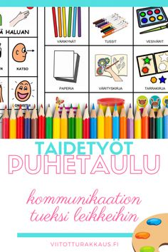 Taidetyöt kommunikaatiotaulu - Viitottu Rakkaus Pre School, Kids, Toddlers, Young Children, Young Children, Boys, Little Boys, Children, Boy Babies