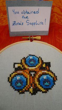 Legend of Zelda hoop - you've obtained the Zora's Sapphire!