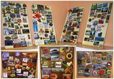 Wordless Wednesday: My Parents' Magnets Collected During Their Travels