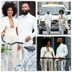I'll admit it. I'm currently obsessed with Solange Knowles and hubby Alan Ferguson. Here they are right before the wedding.