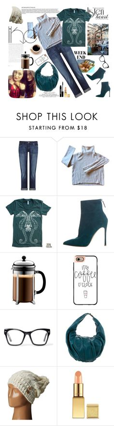 """Coffee with my Besties"" by paperdollsq ❤ liked on Polyvore featuring Coffee Shop, DL1961 Premium Denim, Christopher Fischer, American Apparel, Gianvito Rossi, Bodum, Casetify, WWE, Spitfire and Marni"