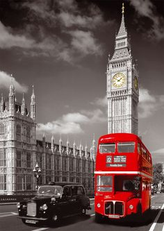 London Big Ben and Red Bus' LED Canvas | Unique Electronic Gifts