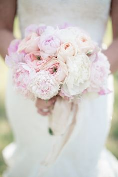 peony + rose bouquet | Watson Studios #wedding