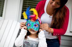 Aprenda a fazer máscara para os mini foliões <3 #craft #carnaval #diy