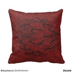 Red pattern throw pillows
