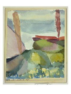 Paul Klee, les Rives du lac par temps de pluie, 1913. Aquarelle sur papier marouflé sur carton. 22,2 x 18,5 cm
