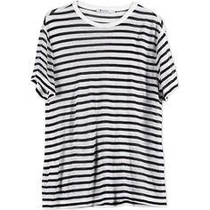 T By Alexander Wang Short Sleeve T-Shirt ($110) ❤ liked on Polyvore featuring tops, t-shirts, shirts, tees, ivory, jersey t shirt, jersey top, tee-shirt, short sleeve tops and viscose shirt