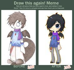 Draw this again! Meme II by chibigaby.deviantart.com