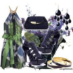 """""""Blue and green ..."""" by dalmatinka on Polyvore"""