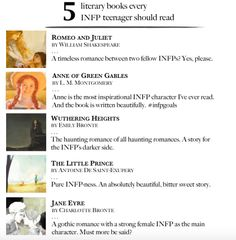 5 literary books every INFP teenager should read