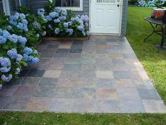 Slate Tile Over Concrete Patio