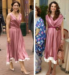 theroyalsandi:  Crown Princess Mary and Queen Rania in Prada