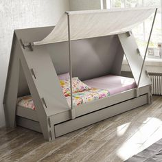 This awesome cabin tent bed is the perfect centrepiece for any child's room, and will create a wonderful adventure scene that is sure to make your child want to go to bed! Bedtime will no longer be a chore and is bound to be a joy from now on as your child will want to rush to bed so that they can drift off into the land of nod and imagination. Available in a huge range of colours, there is a cabin tent bed to suit every child. With a flat pack frame and pull out trundle bed, it is per...