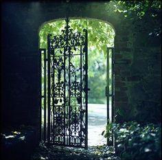secret gardens, weight loss, wrought iron gates, garden gates, garden doors, the secret garden, iron doors, light, old gates
