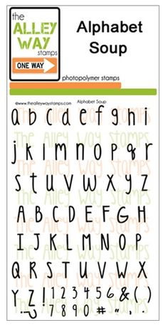 Alphabet Soup TAWN stamp set