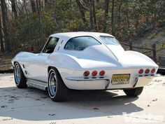 1963 Corvette. Who in the hell drills holes in the rear of their '63 Vette and installs tailights that don't belong.