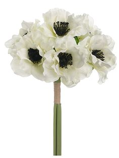 Black hydrangea silk flower 255in tall wedding flowers white silk anemone bundle white wedding flowers afloral mightylinksfo