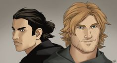 Royce and Hadrian by Sarctic. If your are not familiar with the world of the Riyria Chronicles and THe Riyria revelations by Michael J. Sullivan, you're missing a great story cycle and an amazing pair of unlikely heroes, Royce Melborn and Hadrian Blackwater.