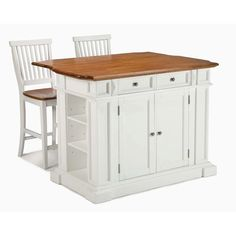 home styles americana white kitchen island with seating kitchen island