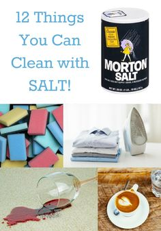 Did you have an idea that you can use salt to clean? It's amazing! Here are 12 things around your home that you can clean with salt.