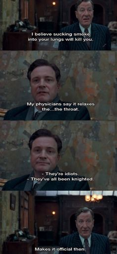 "A dialog in ""The Kings  Speech""  which turned out to be truth."