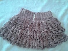 Make a crochet skirt with ruffles, any size. Start with a foundation chain that reaches around the largest part of the hips, then crochet a yoke, add a grid,. Baby Girl Crochet, Crochet Baby Clothes, Crochet For Kids, Crochet Skirts, Crochet Cap, Blanket Crochet, Crochet World, Baby Skirt, Crochet Stitches Patterns