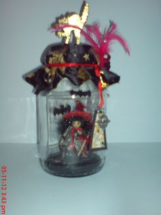 Ye old pickled witch.  One of a kind handmade original.  Etsy  magicalcuriosityshop