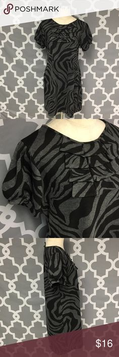 Enfocus Studio Size 14 Zebra Print Dress 🔘Description: Enfocus Studio New without Tags Size 14 Zebra Print Dress Gray and Black excellent condition 🔘Measurements:      Pit to Pit:  21 inches      Shoulder to Hem: 35 inches                            Inventory: D  ⭐️ 30% Off All Bundles!   Thanks for stopping by Studio Dresses