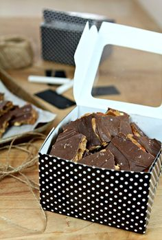 Salted Chocolate English Toffee with Toasted Almonds The BEST toffee I've ever made!