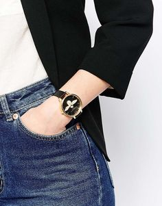 Shop Olivia Burton Moulded Bee Large Dial Watch at ASOS. Latest Fashion Clothes, Latest Fashion Trends, Olivia Burton, Asos Online Shopping, Bee, Watches, Nail Art, Outfits, Accessories