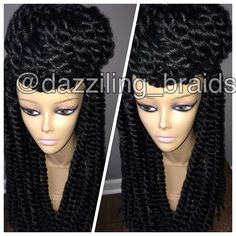 Mambo twist lace front braid wig