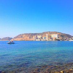 Playa Albufereta y Serra Grossa. Alicante
