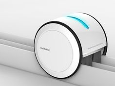 Cleaner Robot by Chae Young Sam & Jeong Ming Yeong is a beautifully designed vacuum with brush that dedicatedly cleans up the rail tracks of the sliding windows. The robotic device even features a built-in UV lamp for sterilization and recharges using solar power.