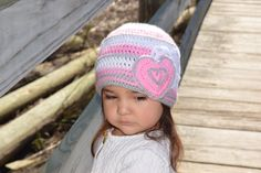 A personal favorite from my Etsy shop https://www.etsy.com/listing/491596502/heart-beanie-valentine-day-beanie
