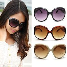 e1ef357a8 It's an Amazon affiliate link. See more. Fashion Women's Sunglasses Retro  Vintage Big Frame Goggles Shades Eyeglass(Black). UK sunglasses