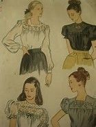 Image result for simplicity pattern 1671 Simplicity Patterns, Vintage Sewing Patterns, Blouses For Women, Embroidery, 1940s, Image, Needlepoint, Primitive Patterns, Cut Work