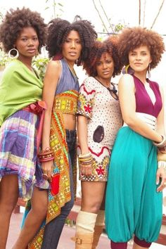 Natural Afro Hair...Love their style too!
