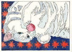 Little Kitty Playing Ball ACEO Print from by THEODORADESIGNS, $7.00
