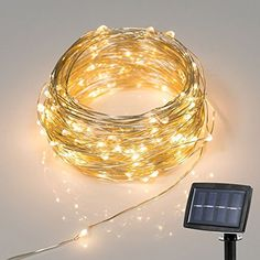 New Version Solar Powered String Lights Starry Copper Wire Lights, Solar Fairy String Lights Ambiance Lighting for Outdoor, Gardens, Homes, Christmas Party-- 2 Modes (Steady on / Flash) (Warm White) Backyard Lighting, Outdoor Lighting, Lighting Ideas, Jardin Zen Interior, Luz Solar, Copper Wire Lights, Solar String Lights, Hanging Lights, Design Blog