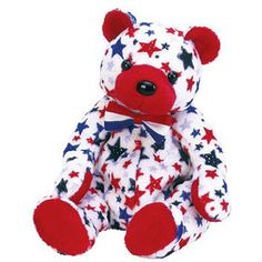 TY Beanie Baby - RED the Bear (7.5 inch)