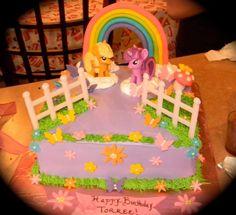 My little pony birthday cake.  Mariposa's Sweets