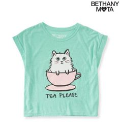 Tea Please Boxy Top - Aeropostale ahhhh! I want this shirt SO bad!