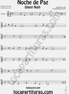 Partitura de NOCHE DE PAZ para Flauta Travesera, flauta dulce y flauta de pico  Villancico Christmas Song SILENT NIGH Sheet Music for Flute and Recorder Music Scores Piano Y Violin, Violin Sheet Music, Anime Sheet Music, Violin Photography, Music Is My Escape, Music Painting, Movie Themes, Music Wallpaper, You Lied