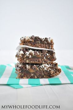 Paleo Magic Bars.  A healthier version of the classic holiday treat.  Vegan, gluten free and paleo.