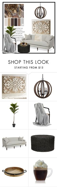 """Living Space"" by doragutierrez ❤ liked on Polyvore featuring interior, interiors, interior design, home, home decor, interior decorating, Seed Design, Pier 1 Imports and Pom Pom at Home"