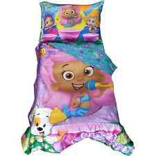 NEW 4 PC BUBBLE GUPPIES MOLLY BEDDING TODDLER BABY BED SET COMFORTER BLANKET +
