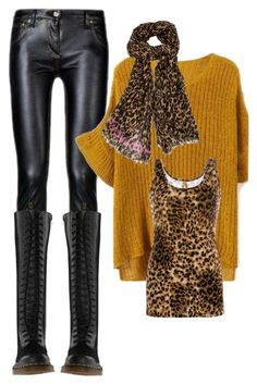 Léopard by baggheera on Polyvore featuring mode, BKE, Dr. Martens and Louis Vuitton