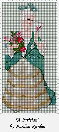 0 point de croix vintage lady - cross stitch